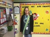 Congrats, Mrs. Garcia--PBIS Teacher of the Month (November 2105)