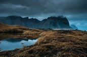 The Misty Mountains ( The Vestrahorn Mountains)