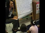 Maestra Garcia teaching a writer's workshop mini-lesson