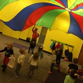 Inside recess with the parachute :-)