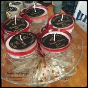 Candles by Rekindled by Dey: $13-$15 each