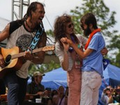 Hope and Steve Dezember with Michael Franti
