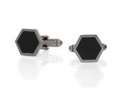 Hexagon cufflinks $22
