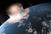 Meteor Causing Tsunami In The Ocean