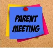 PARENT MEETING, Monday @ 8:30am