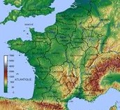 France Geographical Map