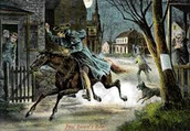 Paul Revere Warning the Colonists the British are Coming