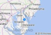 A Map of Delaware
