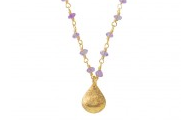 La Follie Necklace in Purple, $49