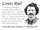 A quote from riel