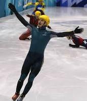 Steven Bradbury after the 1000m Speed Skating Sprint.