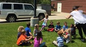 Duck-duck-goose with Lynnsey