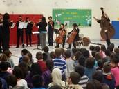 Demon Strings Visiting District 63 Schools