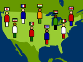 Give an overview of immigrant history in the United States from 1820-1920. There were two major  waves of immigration. Identify them and explain their differences.