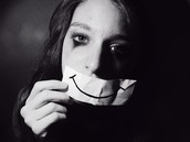 This is the smile one wears, to hide the pain they feel.