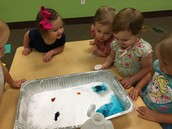 Science with the girls and baking soda and vinegar :-)