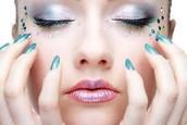 modern diamond studded eyes