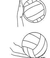 Serving a volleyball.