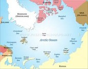 Map of the Arctic Ocean