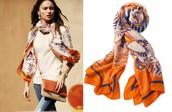 Union Sq Scarf Tangerine Mixed Reg $59 -25% sale $44