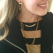 Drape Ear Jackets + Drape Collar Necklace