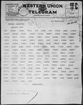 January 1917 - Zimmermann Telegram