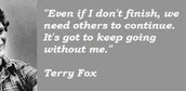 Terry Fox's Commandment to the public