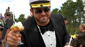 Adam Richman on a boat