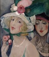 To kokotter med hatte (Lili med veninde)' circa, 1920