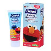 Training toothpaste/regular toothpaste