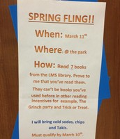 Spring Fling Reading Incentive