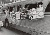 The action of what Rosa Parks did eventually led to the bus boycott, which then led to Freedon Rides.