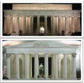 Jefferson and Lincoln Memorial Comparison