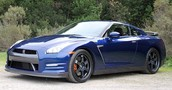 Blue Nissan Gtr
