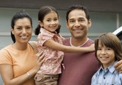 Uno Padre, Uno, Madre, y Dos Niños