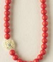 Coral Mini Bloom Necklace