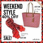40% off wild hears scarf and tote bag