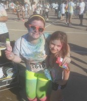 Ms. Shoemake and Lexi after the run