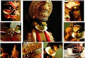A Kathakali actor uses immense concentration