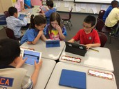 We did our first Nearpod!  Thanks for sending your student with a device!