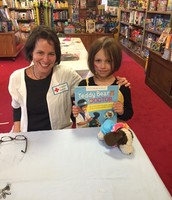 Jane and Oreo with author Deanna F. Cook