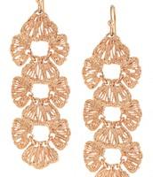 Geneve Linear Rose Gold Earrings