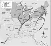 Most Common Underground Railroad Routes