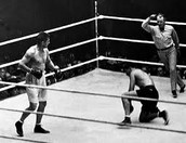 Jack Dempsey fighting Gene Tunney