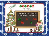 Winter Holiday Math Hook