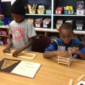 Construction with Kapla Blocks Megan & Yvonne's class