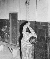 A torture pose used at Auschwitz