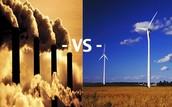 2. Fossil fuels vs. Renewable energy