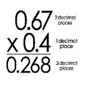 How to multiply decimals