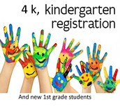 Registration Dates for 4K, 5K and new 1st grade students for 2016-2017